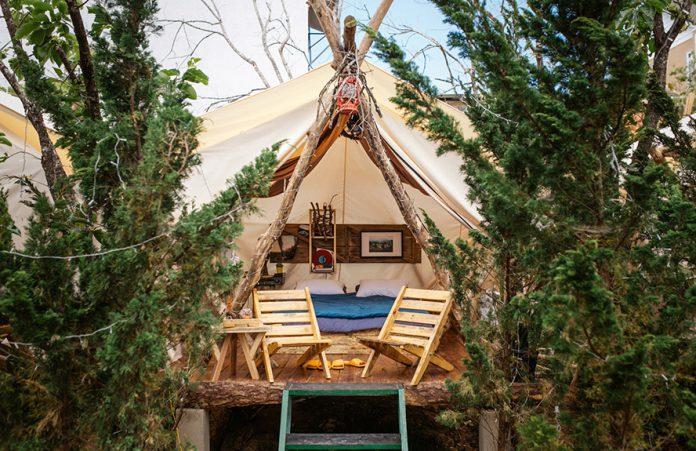 Một căn phòng giữa thiên nhiên bao la ở The Shelter